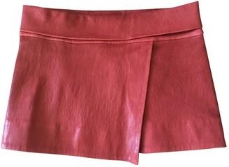 Isabel Marant Red Leather Skirt for Women