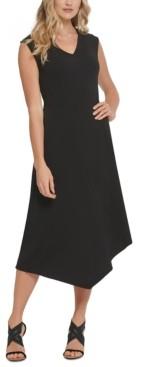 DKNY Asymmetrical Midi Dress