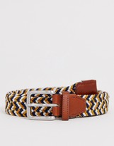 Jack and Jones woven belt with buckle in multi color