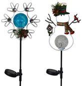 Solar LED Winter Stake Lights 2pk