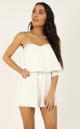 Showpo Your smile is like a breath of spring Playsuit in white - 10