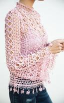 Ily Couture Pink Lace Top