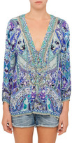 Camilla The Blue Market Lace Up Shirt