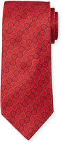 Neiman Marcus Italian-Made Circle-Print Silk Tie