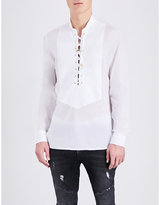 Balmain Lace-up Cotton Shirt