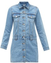 Ganni Denim Mini Dress - Womens - Light Denim