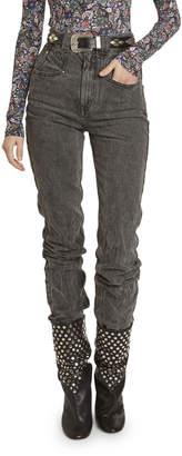Isabel Marant Coated Denim Skinny Jeans