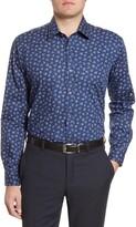 Ted Baker Brusel Trim Fit Floral Dress Shirt