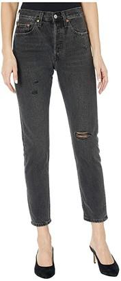 Levi's Premium Premium 501 Skinny (Sansome Stone Wash) Women's Jeans