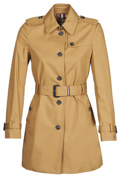 Tommy Hilfiger SINGLE BREASTED TRENCH women's Trench Coat in Beige