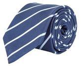 Burton Mens Navy Fine Striped Tie