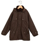 Jacadi Boys' Hooded Zip-Up Coat