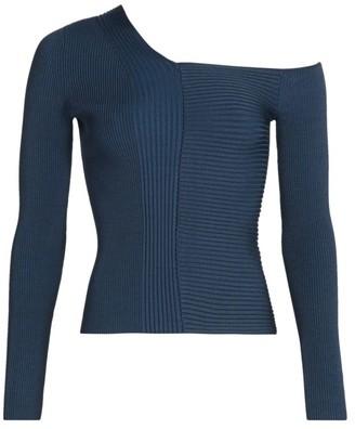 Jonathan Simkhai Charlie Asymmetric Ribbed Sweater