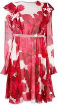Giambattista Valli floral print dress - women - Silk - 42