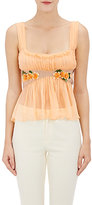 Alberta Ferretti WOMEN'S EMBELLISHED SLEEVELESS CROP BLOUSE