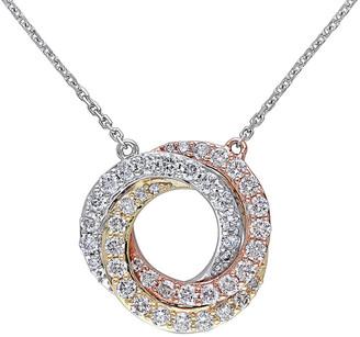 Diamond Select Cuts 14K Tri-Tone 1.00 Ct. Tw. Diamond Necklace