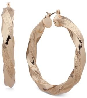 """DKNY Medium Twist Thick Hoop Earrings, 1.5"""""""