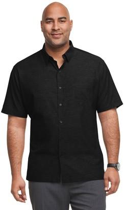 Van Heusen Big & Tall Air Classic-Fit Patterned Button-Down Shirt