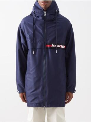 Moncler Logo-patch Technical-fabric Parka - Navy