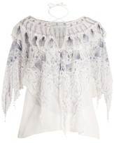 Zandra Rhodes Archive Ii The 1973 Seashell Star Blouse - Womens - White Print