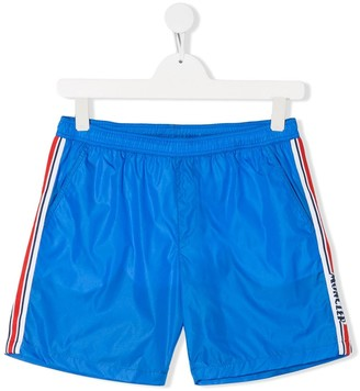 Moncler Enfant TEEN side-band swim shorts