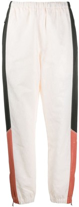 Marine Serre Colour-Block Tapered Trousers