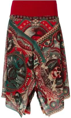 Jean Paul Gaultier Pre-Owned sheer printed skirt