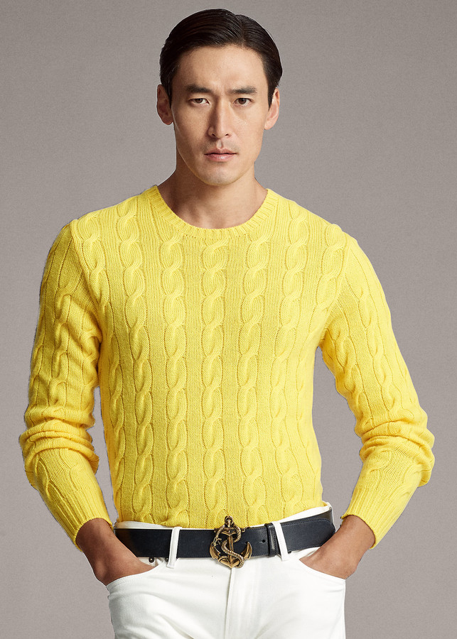 Ralph Lauren Cable Knit Cashmere Sweater Shopstyle