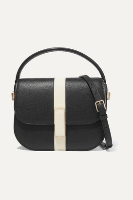 Valextra Iside Textured-leather Shoulder Bag - Black