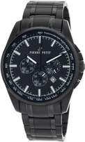 Pierre Petit Men's Serie Le Mans black stainless-steel band watch.