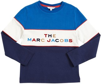 Little Marc Jacobs Logo Print Cotton T-shirt