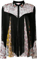 Giamba floral panel shirt