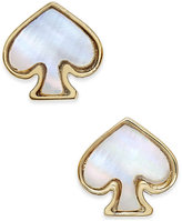 Kate Spade Signature Spade Gold-Tone Imitation Mother-Of-Pearl Earrings