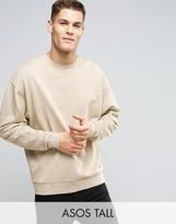 Asos TALL Oversized Sweatshirt In Beige