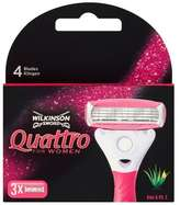 Wilkinson Sword Quattro For Women Blades 3pk