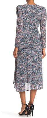ASTR the Label Hi-Lo Ruched Front Midi Dress