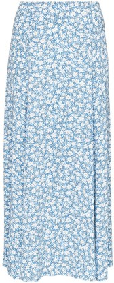 Reformation Zoe floral-print midi skirt