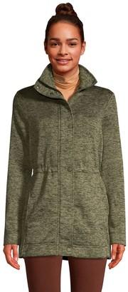 Lands' End Petite Utility Sweater Fleece Coat