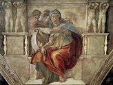Michelangelo 1art1 Posters Buonarroti Poster Art Print - Sibilla Delfica (32 x 24 inches)