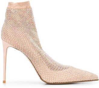 Le Silla Embellished Sock Pumps