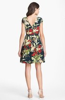 Ted Baker 'Fortys Bloom' Print Silk A-line Dress