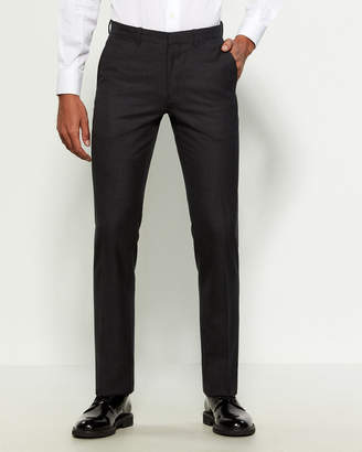 Theory Charcoal Solid Wool Pants