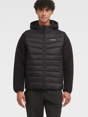 DKNY Men's Reversible Vest Jacket - Black - Size XS
