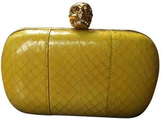 Alexander McQueen Skull Yellow Water snake Clutch bags