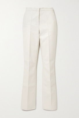 LADO BOKUCHAVA Faux Leather Straight-leg Pants - White