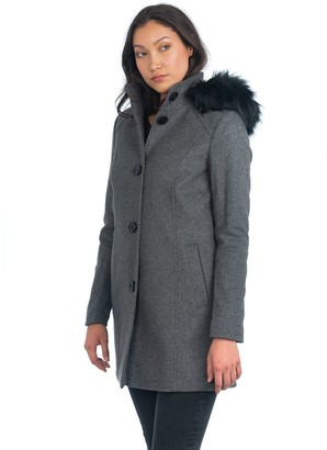 Nuage Italian Wool Cashmere Blend A-Line Coat