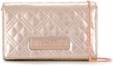 Love Moschino quilted logo plaque cross body bag