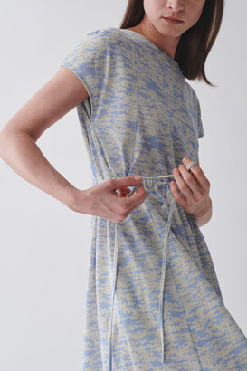Cos Long Printed Cotton Dress