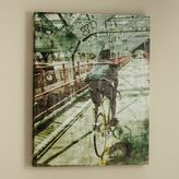 PBteen Urban Cyclist Canvas Wall Art