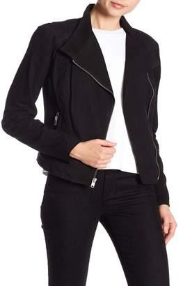 Andrew Marc Laney Asymmetrical Front Zip Jacket